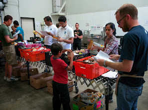 Photo: Volunteers at Feeding America in San Diego, CA during Sewa Day 2014