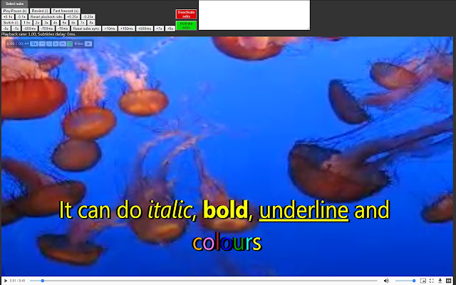 HTML5 media speed controller + subs
