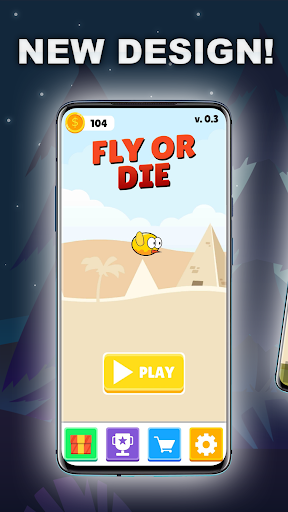 Fly or Die - A Funny Flapping Game android2mod screenshots 1