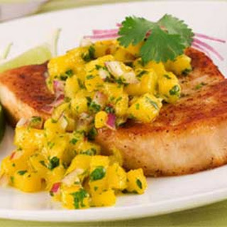 Fried Cod Fillets with Mango