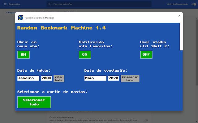 Random Bookmark Machine