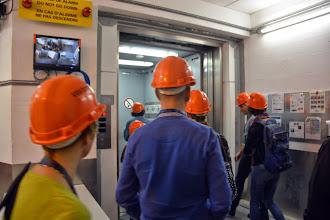 Photo: We head underground to the detector chamber