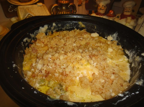 Will be done in 4 hours.  Than add breadcrumbs on top if you...
