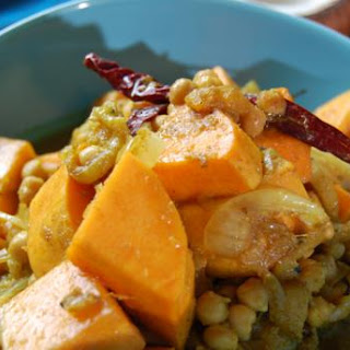 Bengali Butternut Squash With Chickpeas