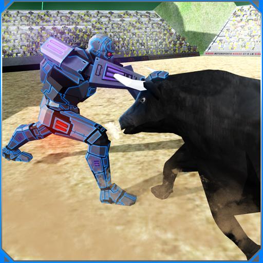 Battle Robot VS Angry Bull
