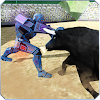 Battle Robot contre Bull en