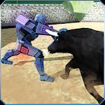 Battle Robot VS Angry Bull Icon
