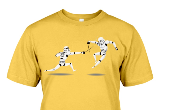 A Fencer's Guide to Holiday Gifts - Olympic & Star Wars Edition - Stormtroopers fencing t-shirt