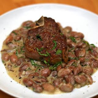 Lamb Chops with Crème Fraîche Beans.