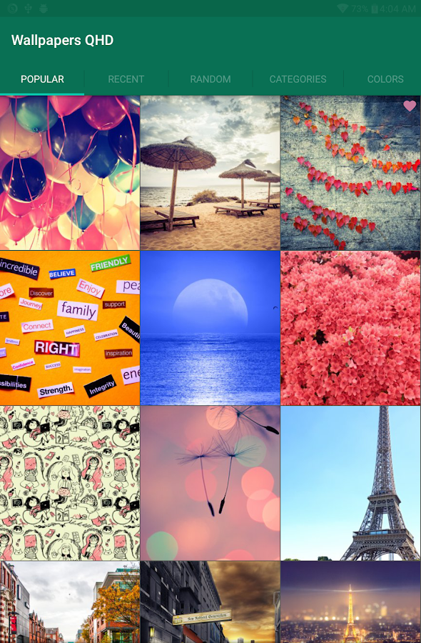 Screenshots of Best Wallpapers QHD for iPhone