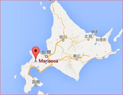 地図:マリポサ (Mariposa)
