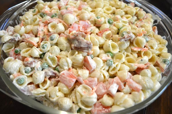 homemade bacon ranch pasta salad recipe just a pinch recipes