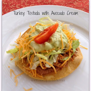Turkey Tostada With Avocado Cream