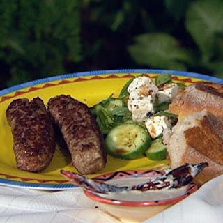 Macedonian Chevapi And Garlic Dip.
