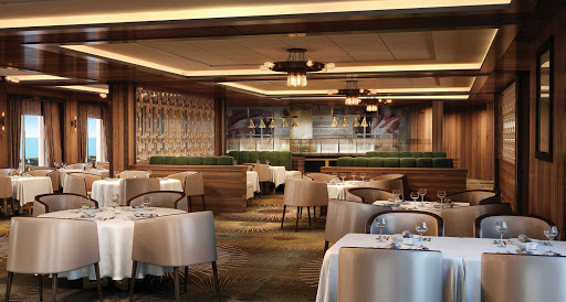 norwegian-bliss-Cagneys-rendering.jpg - Norwegian Cruise Line's signature steakhouse Cagney's serves certified Angus beef brand steaks.