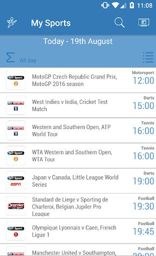 UK Live Sport TV Guide 2.01 screenshots 1