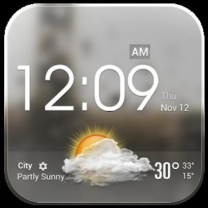Download Transparent Glass Clock Widget