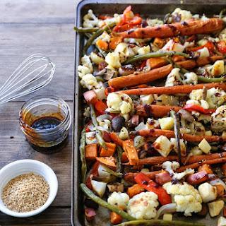 Roasted Vegetables with Asian Honey Ginger Glaze.