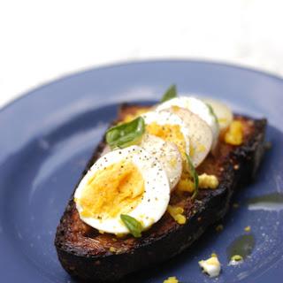 New Potato and Egg Crostino.
