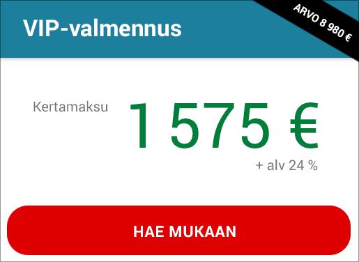 VIP-valmennuksen hinta
