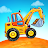 Truck games for kids - build a house, car wash logo