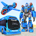 Bus Robot Transforming Game - Gorilla Robot Game icon