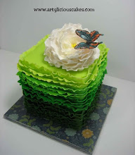 Photo: green ruffle cake by Artylicious Cakes  (3/15/2012) View Cake Details Here: http://cakesdecor.com/cakes/9286