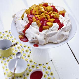 Mango and Strawberry Pavlova