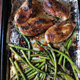 One Pan Balsamic Chicken and Asparagus.