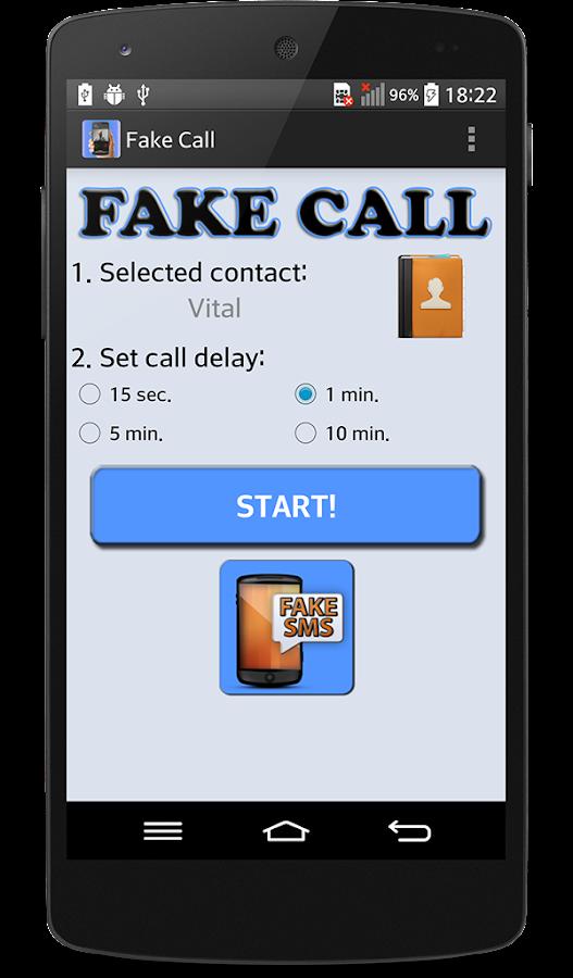 how to make a fake phone call