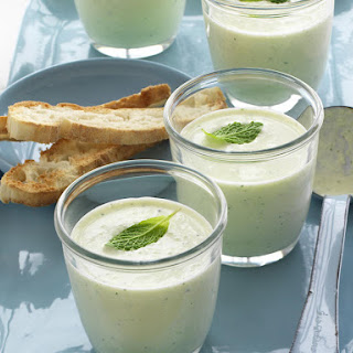 Chilled Yogurt, Cucumber and Mint Soup