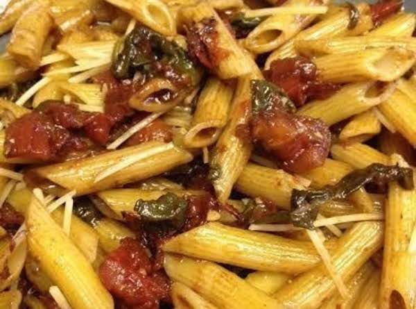 Kim's Penne With Bacon & Tomatoes