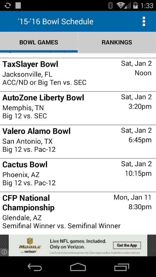 college football sched who plays tonight in college football