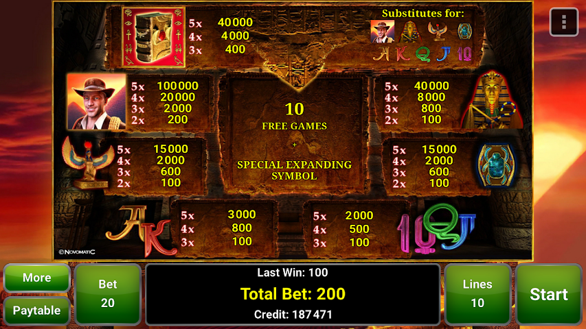 android Book of Ra™ Deluxe Slot Screenshot 13