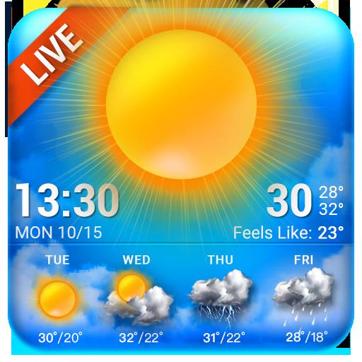 Bluesky Theme Weather Widget