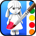ColorMinis Kids - Color & Create real 3D art icon