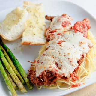 Fried Easy Veal Parmigiana.