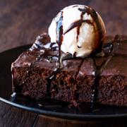 Hot Chocolate Brownie ( 2 PCS) with Vanilla Ice cream