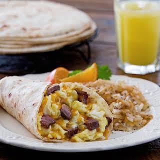 Steak & Eggs Breakfast Burrito.