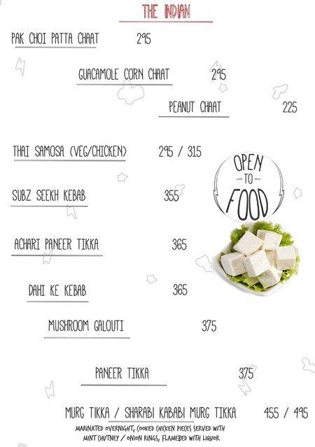 Open House menu 14