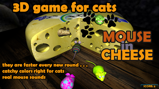 Mouse in Cheese: 3D game for cats- screenshot thumbnail