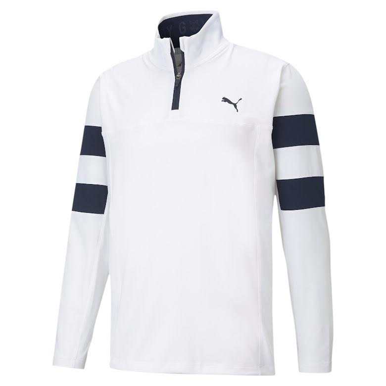 Puma Golf Torreyana 1/4 Zip Golftröja Vit/Navy