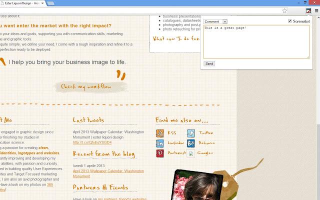 Ester Liquori Design - Page Commenter