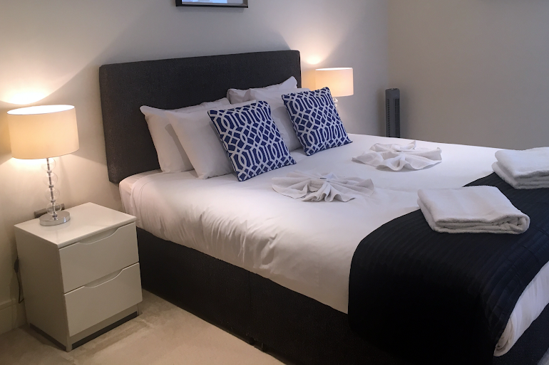 Bedroom at Canary Wharf Executive Apartment