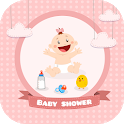 Baby shower card maker icon