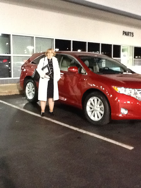 Photo: Steve Rogaskie would like to congratulate Linda on her new 2012 Toyota Venza!!!