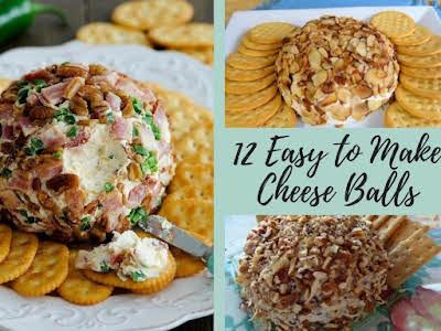 12 Easy to Make Cheeseballs