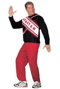 Cheerleader Spartan, man