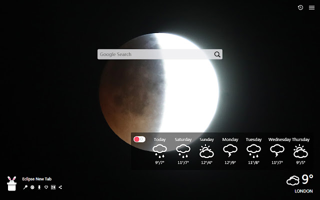 Eclipse New Tab, Wallpapers HD