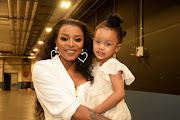 Dj Zinhle and Daughter Kairo during the AKA Orchestra On The Square at Time Square Sun Arena on March 17, 2019 in Pretoria, South Africa.